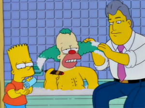 Krusty taking a much needed Bath!