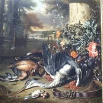 "Gamepiece with a Dead Heron (""Falconer's Bag"") Jan Weenix"