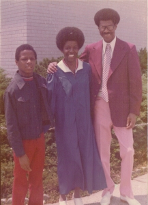 Stephen, Me & Daddy at my 1977 High School graduation.