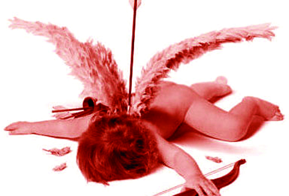 Cupid shot by his own Arrow.