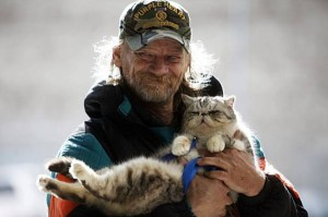 Homeless with Catster