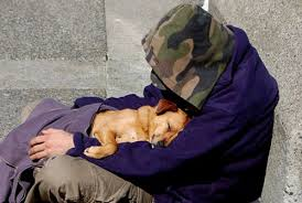 Homeless with Doggie