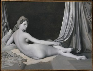 Odalisque in Grisaille Jean Auguste Dominique Ingres  (French, Montauban 1780–1867 Paris) and Workshop