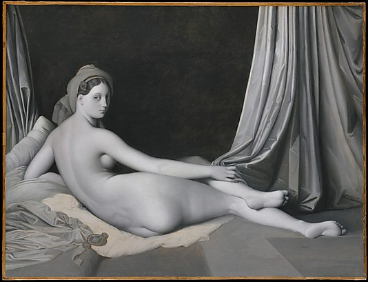 Odalisque in Grisaille_Ingres