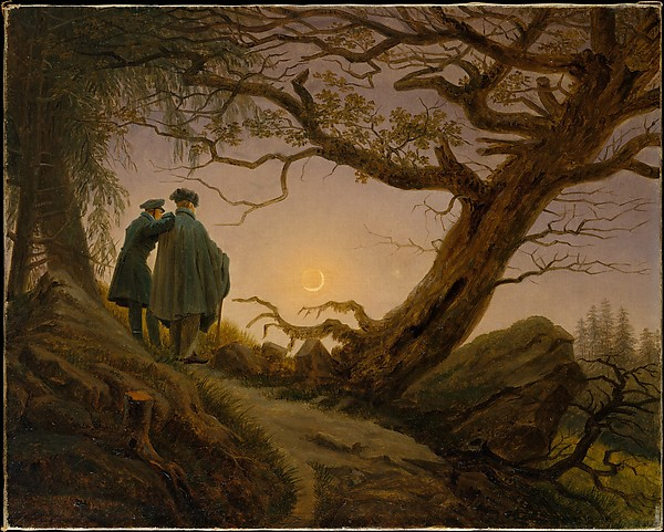 Two Men Contemplating the Moon_Friedrich