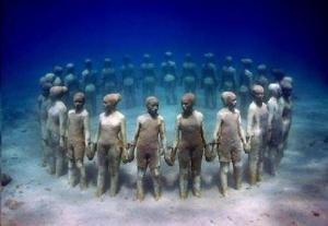 Underwater Slave Sculpture