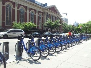 The every present Citi-Bikes awaiting Riders