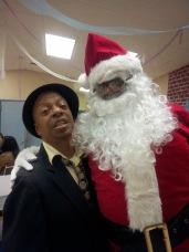 My brother Stephen surprised by Santa's Beard