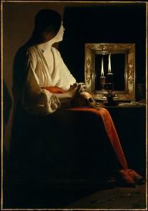 The Penitent Magdalen Artist: Georges de La Tour (French, Vic-sur-Seille 1593–1653 Lunéville) Date: ca. 1640