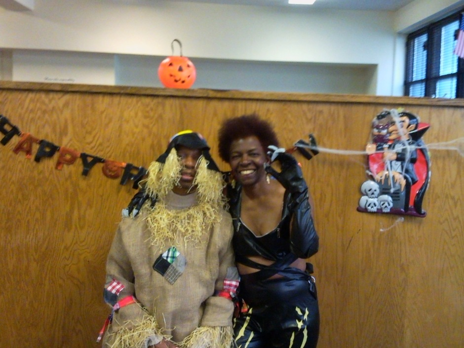 Stephen as Scarecrow. Me as Cat Woman.