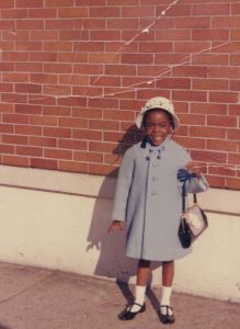 Me. Easter 1964. Complete with Black Patent Leather Shoes and matching handbag!  I was very cute!
