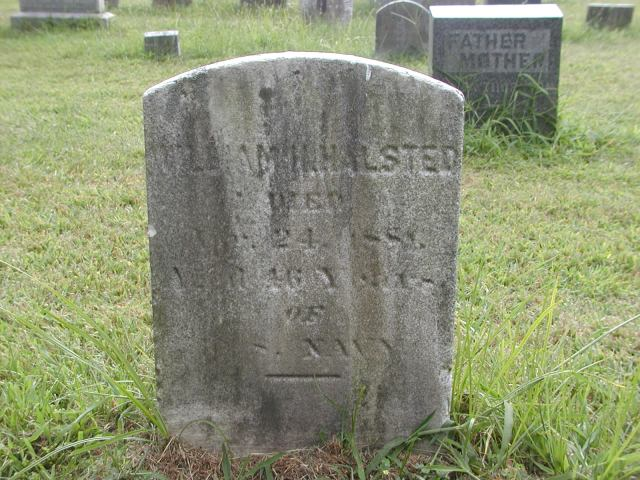 William Henry Halstead Headstone ~ Sleepy Hollow