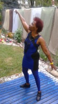 Blue Spidey Lady