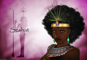 Queen Seshat Egyptian Goddess of Scribes