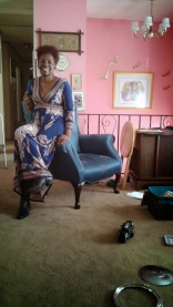 Blue Church Lady