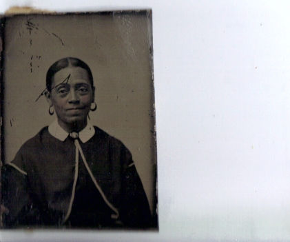 This is a Tin Type photo of an unknown unnamed Ancestor