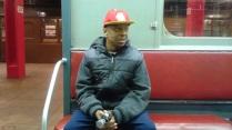 Stephen inside a Vintage Subway