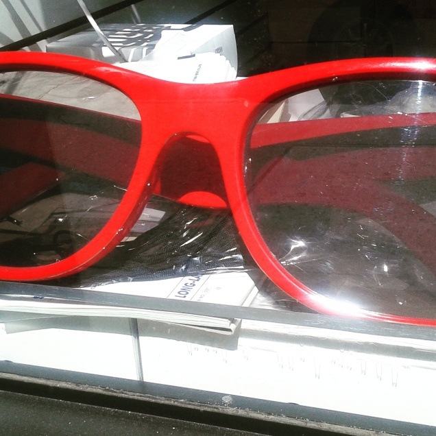 Giant Large Red Eyeglasses