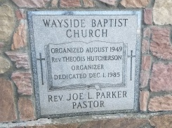 Wayside Baptist Church Cornerstone