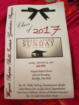 Wayside Baptist Church program 2017